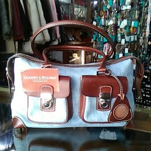 Denim Dooney and Bourke Double Pocket Purse
